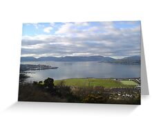 View of The River Clyde from battery park Greenock Inverclyde Greeting Card