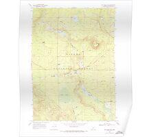 USGS Topo Map Oregon Tea Table Mtn 281759 1968 24000 Poster
