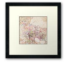 Tucson map Framed Print