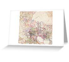 Tucson map Greeting Card