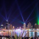 The City of Lights - Brisbane Festival Laser Show by David de Groot