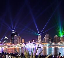 The City of Lights - Brisbane Festival Laser Show by David de Groot