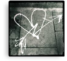 Pavement Love Canvas Print