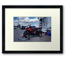 Dave Myers MCRA #16 at Heartland Park Topeka Framed Print