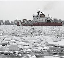 Coast Guard Cutter and Ice by marybedy