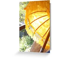 Golden Bali Greeting Card