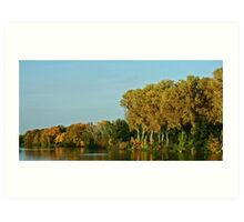 Autumn panorama Art Print