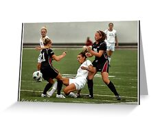 UIndy vs Old Dominican Womens Soccer 3 Greeting Card