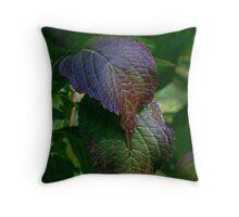 Nettle Leaves Throw Pillow