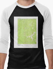 USGS Topo Map Oregon Collier Butte 282347 1954 62500 Men's Baseball ¾ T-Shirt