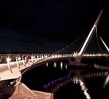 Peace Bridge over river Foyle, Derry by Ciaran Sidwell