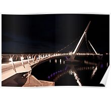 Peace Bridge over river Foyle, Derry Poster