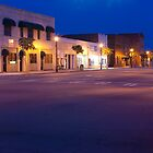 Evening Twilight Skies Over Small Town America by BenSellars