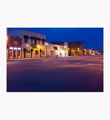 Evening Twilight Skies Over Small Town America Photographic Print