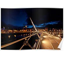 Peace Bridge over river Foyle, Derry Poster