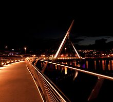 Peace Bridge, River Foyle, Derry by Ciaran Sidwell