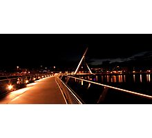 Peace Bridge, River Foyle, Derry Photographic Print