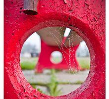 Red Bench - Ritz Motel, New Brunswick by jtran