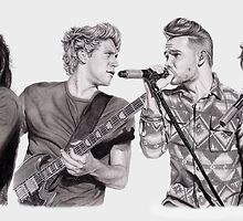 One D on Stage Collage by artbygina