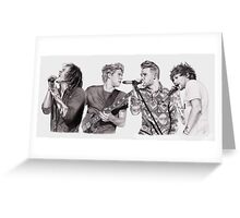 One D on Stage Collage Greeting Card