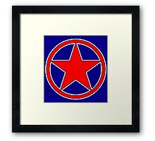 RED, STAR, CIRCLE, BADGE, Stardom, Power to the people! Red Dwarf, Stellar, Cosmic Framed Print
