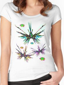 Lionfish Psychedelic Parade Women's Fitted Scoop T-Shirt