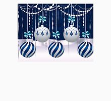 Blue and White Xmas Balls 4 T-Shirt