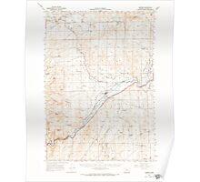 USGS Topo Map Oregon Harper 282563 1966 62500 Poster