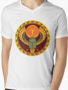 Egyptian sacred bug Mens V-Neck T-Shirt