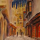 Winter evening Canterbury by Beatrice Cloake Pasquier