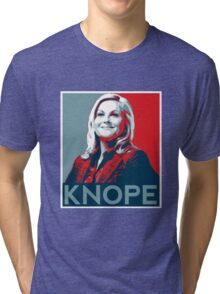 Knope Poster - white lower layer Tri-blend T-Shirt