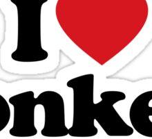 I Love Heart Donkeys Sticker Sticker