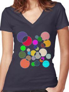 Kolor Bubblz Women's Fitted V-Neck T-Shirt