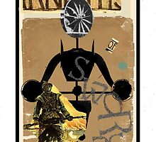 Dada Tarot-Knight of Swords by Peter Simpson