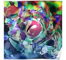 Glass Diamonds Poster