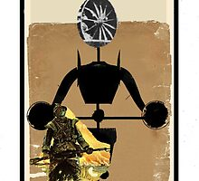 Dada Tarot-Knight of Swords (no type) by Peter Simpson