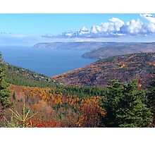 Cape Breton Island, McKenzie Mountain Photographic Print