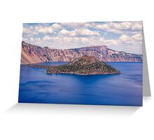 Island in Blue Greeting Card
