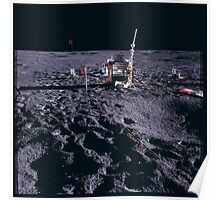 Apollo Archive 0066 Moon Experimenta Equipment Spread Out on Lunar Surface Poster