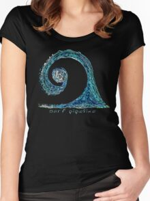 Surf Pipeline I Women's Fitted Scoop T-Shirt