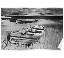 Boat on Lake Carrowmore, Ireland Poster