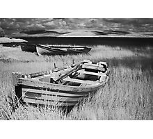 Boat on Lake Carrowmore, Ireland Photographic Print