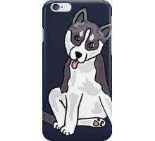 Funny Gray and White Siberian Husky Dog iPhone Case/Skin