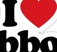 I Love Heart Gibbons Sticker Sticker
