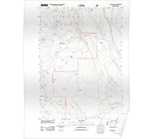 USGS Topo Map Oregon Oatman Flat 20110715 TM Poster