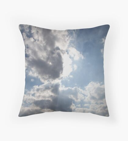 Clouds over Warwickshire Throw Pillow