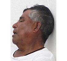 Dreams - siesta in the streets of Vallarta Photographic Print
