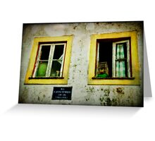 Facade Penela Portugal Greeting Card