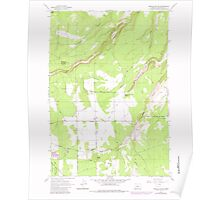 USGS Topo Map Oregon Henkle Butte 280182 1962 24000 Poster