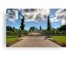 Mausoleum Walkway Canvas Print